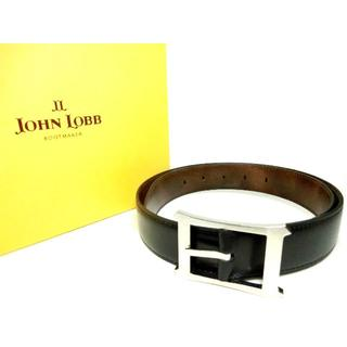 ジョンロブ(JOHN LOBB)の♂【新品◆世界最高峰】ジョンロブ 両面 ミュージアムカーフ ドレスベルト 80(ベルト)