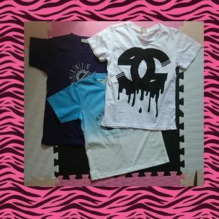 ⑧男の子半袖3点(130)(Tシャツ/カットソー)