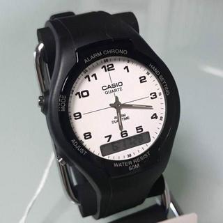 カシオ(CASIO)の新品✨カシオ CASIO スタンダード アナデジ 腕時計 AW-90H-7B(腕時計(アナログ))