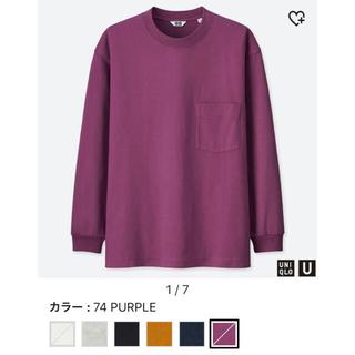 ユニクロ(UNIQLO)の完売品‼︎ ユニクロユー メンズ クルーネックT 長袖(Tシャツ/カットソー(七分/長袖))