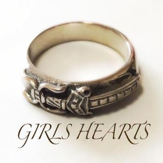 送料無料20号クロムシルバー925ダガースタンプリング指輪値下クロムハーツ好きに(リング(指輪))