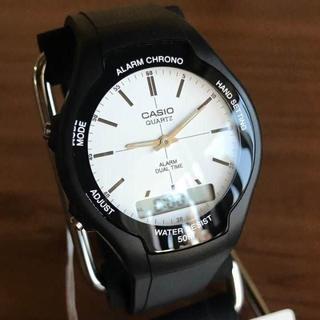 カシオ(CASIO)の新品✨カシオ CASIO スタンダード アナデジ 腕時計 AW-90H-7E(腕時計(アナログ))