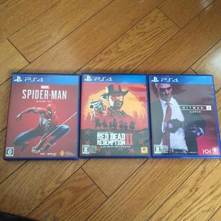 プレイステーション4(PlayStation4)のスパイダーマン レッドデッドリデンプション2 ヒットマン2 ps4ゲームセット(家庭用ゲームソフト)