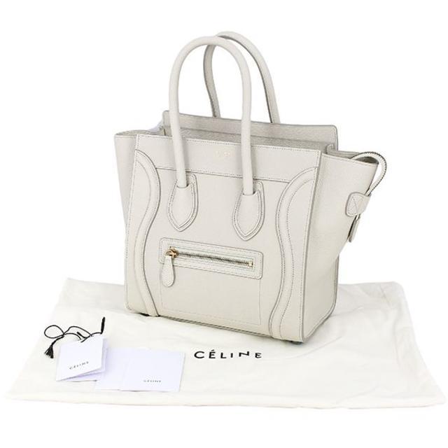 18bdcf4ff543 celine(セリーヌ)のセリーヌ ラゲージ マイクロショッパー ライトグレー ハンドバッグ レディースのバッグ(