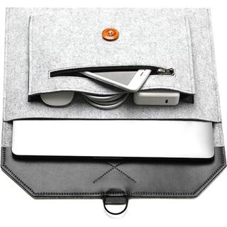 MacBook フェルトケース ライトグレー 13インチ/15インチ(その他)