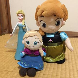 アナトユキノジョオウ(アナと雪の女王)のアナと雪の女王 ぬいぐるみ&人形3点セット(ぬいぐるみ)