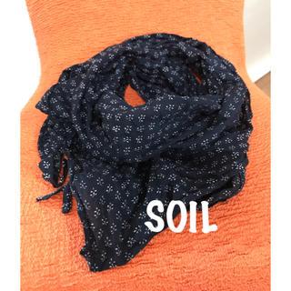 ソイル(SOIL)のSOIL コットン三角ストール(ストール/パシュミナ)