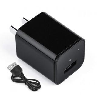 高品質 HD 小型 隠しカメラ ACアダプター型 動体検知 USB急速充電器(コンパクトデジタルカメラ)