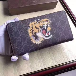 グッチ(Gucci)のグッチ GUCCI 長財布 タイガー ブラック(財布)