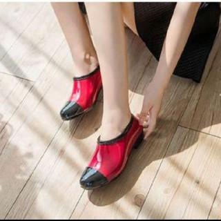 サイズ24〜25 レインブーツ パンプス 晴雨兼用(レインブーツ/長靴)