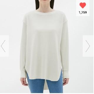 ジーユー(GU)のGU ハニカムロングスリーブT オンライン限定サイズ(Tシャツ(長袖/七分))