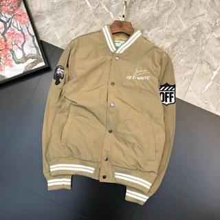 オフホワイト(OFF-WHITE)のOFF-WHITEジャケット/イーグル刺繍/イエロー(フライトジャケット)
