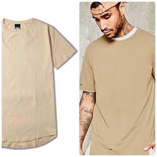 レイヤード✨ Tシャツ メンズ ストリート ベージュ(Tシャツ/カットソー(半袖/袖なし))