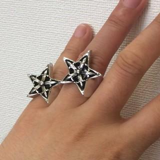 6【大人気】重みあり ツヤあり 多数芸能人着用タイプ 星指輪(リング(指輪))