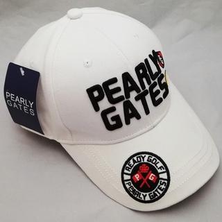パーリーゲイツ(PEARLY GATES)のパーリーゲイツ キャップ ホワイト(ウエア)