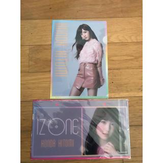 109 IZ*ONE 本田仁美 ネームプレート,クリアファイルセット(アイドルグッズ)