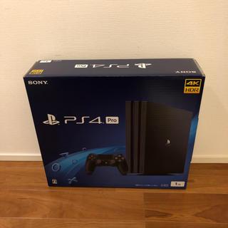 【新品】PS4 Proジェットブラック1TB (CUH-7200BB01)③(家庭用ゲーム本体)