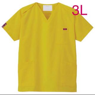 新品 FOLK フォーク 男女兼用スクラブ 白衣 3L マスタードイエロー(Tシャツ/カットソー(半袖/袖なし))