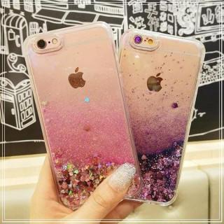 【新品未使用☆】アイフォンケース キラキラ ラメ☆グリッター(iPhoneケース)
