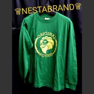 ネスタブランド(NESTA BRAND)のNESTA BRAND ネスタ ブランド ライオンロゴ ロンt グリーン s(Tシャツ/カットソー(七分/長袖))