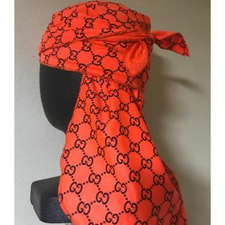 "designer rag ""GG orange neon durag""(バンダナ/スカーフ)"