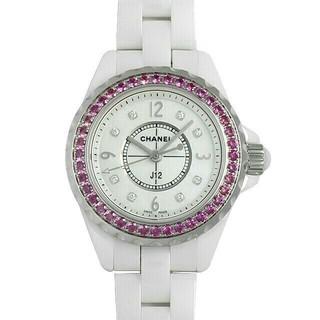 シャネル(CHANEL)のシャネル J12 ピンクサファイアベゼル H3243(腕時計(アナログ))
