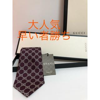 グッチ(Gucci)のGUCCI グッチ ネクタイ 新品、未使用、タグ付き GGパターン GG柄(ネクタイ)
