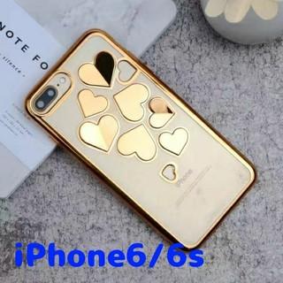 クリアハートiPhoneケース6【ゴールド】(iPhoneケース)