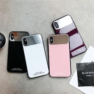 新品 ミラーカラーiphoneケース iphoneXケース(iPhoneケース)