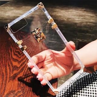 iphone ケース おしゃれ トランク ラグジュアリー ゴールド クリア(iPhoneケース)