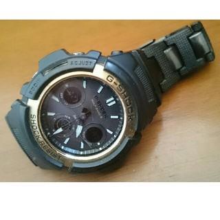 ジーショック(G-SHOCK)のG-SHOCK  AWG-M100BC 電波 ソーラー ゴールド(腕時計(デジタル))