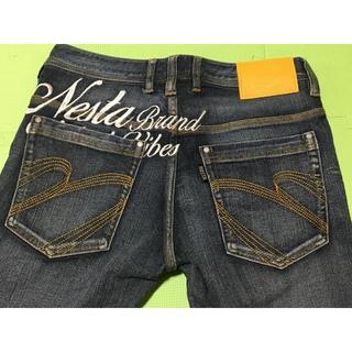 ネスタブランド(NESTA BRAND)のNestaBrand イエローパッチ 各所に刺繍あり A026(デニム/ジーンズ)