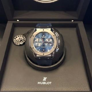 ウブロクラシックフュージョンチタニウム ブルー511.NX.7170.LR自動巻(腕時計(アナログ))