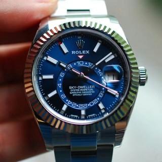 新品 ロレックス メンズ腕時計自動巻き時計 32693 人気のブルー文字盤(腕時計(アナログ))
