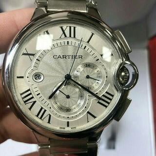 カルティエ(Cartier)のカルティエ バロンブルー クロノグラフ W6920076 自動巻き 44mm(腕時計(アナログ))