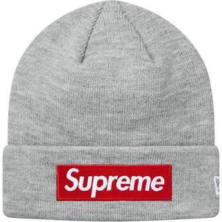 シュプリーム(Supreme)のSupreme New Era Box Logo Beanie ニット帽 グレー(ニット帽/ビーニー)