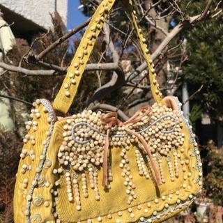 ジャマンピュエッシュ(JAMIN PUECH)の新品●Jamin puech ジャマン ピエッシュ 手刺繍ビジューバッグ(ハンドバッグ)