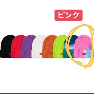 シュプリーム(Supreme)のSupreme  Overdyed Beanie ピンク(ニット帽/ビーニー)