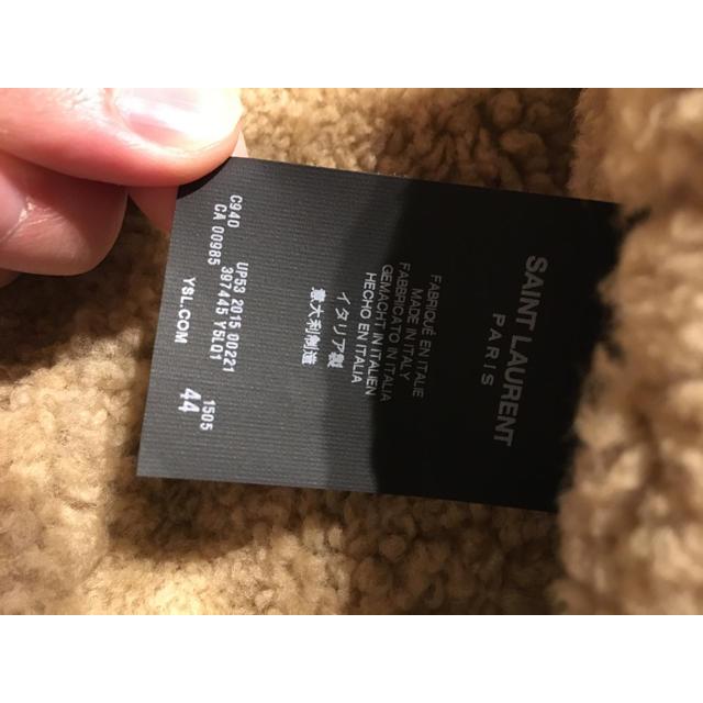 Saint Laurent(サンローラン)の【極美品】サンローランパリ 2015AW ムートン 44 3代目岩田同型同色着 メンズのジャケット/アウター(レザージャケット)の商品写真