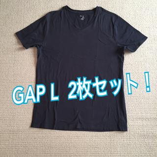 ギャップ(GAP)のギャップ GAP Tシャツ Vネック Lサイズ(Tシャツ/カットソー(半袖/袖なし))