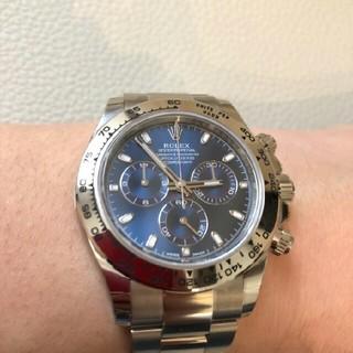 新品ロレックス デイトナ コスモグラフ デイトナ116509ブルーダイヤル 時計(腕時計(アナログ))