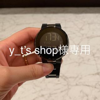 グッチ(Gucci)のグッチ GUCCI 腕時計 ブラック文字盤 メンズ YA114205(腕時計(デジタル))