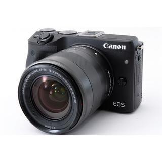 キヤノン(Canon)の★Wi-Fi & 簡単自撮り★キャノン M3 ブラック レンズ(ミラーレス一眼)