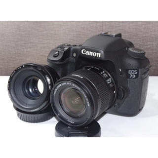 キヤノン(Canon)の【本格派一眼レフ】キャノン Canon EOS 7D ダブルレンズセット(デジタル一眼)