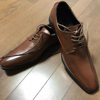 ビジネスシューズ 革靴 新品 未使用 タグ付き ブラウン(ドレス/ビジネス)