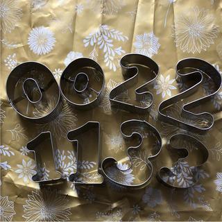 新品 数字 お祝い 食育 誕生日 セット クッキー 型(調理道具/製菓道具)
