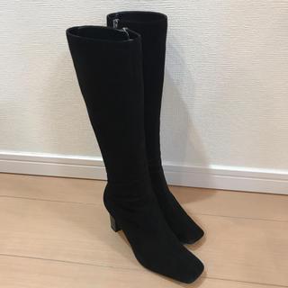 ブルーノマリ(BRUNOMAGLI)のブルーノマリ スウェード 黒 ロングブーツ 33(ブーツ)