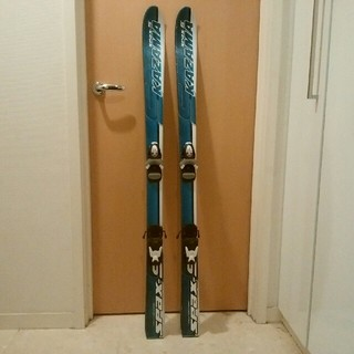 ジュニア スキー板 KAZAMA SPAX-S ブルー(板)