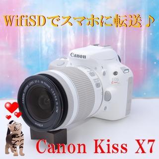 キヤノン(Canon)の気負わなくていい一眼レフ☆彡キャノン Kiss X7レンズキット!(デジタル一眼)