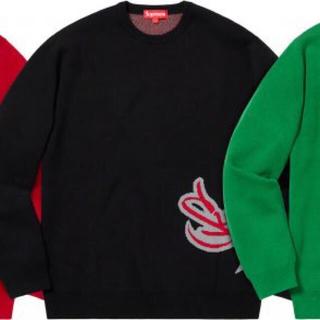 シュプリーム(Supreme)のSupreme tag logo sweater スエット ブラック M(スウェット)